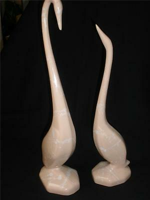 Fabulous Ornamental Decorative Pink Geese X 2 Large