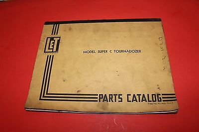 Vintage LeTourneau Super C Tournadozer Parts Catalog