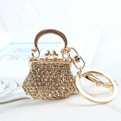 New HandBag Fashion Cute Accessories Crystal Purse Pendent Key Chain Wholesale