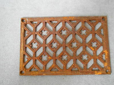 FRENCH Vintage Cast Iron rusted  HEATING GRATE VENT PLAQUE