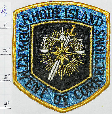 Rhode Island State Department Of Corrections Police Vintage Patch
