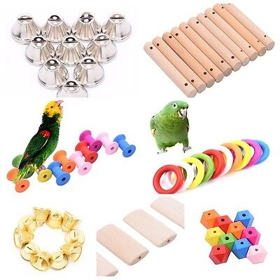 10pcs/Set Parrot Bird Toy Parts DIY Accessory Cage Perch Swing Toys Making Craft