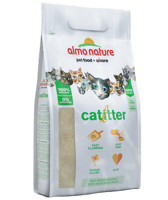 Almo Nature Cat Litter lettiera igienica ecologica smaltibile nel WC 1+1 GRATIS