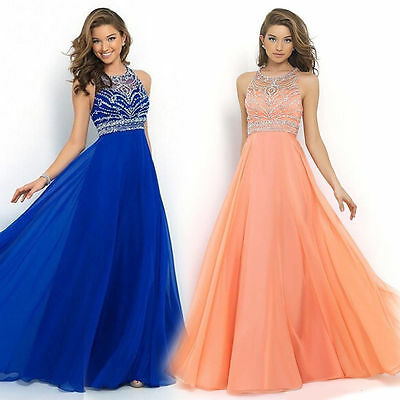 Women's Maxi Dress Evening Party Formal Bridesmaid Prom Long Chiffon Ball Gowns