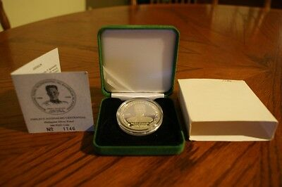 Philippines 1998 500-Peso Aguinaldo Centennial, Silver Proof With Case/coa