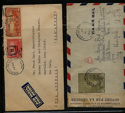 Haiti    2  covers , once  censor to  US       MS0312
