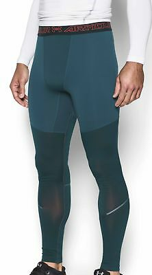 Under Armour ColdGear Elements Mens Long Tights - Green