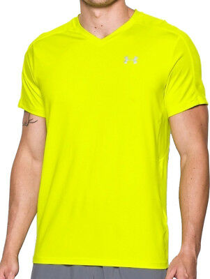Under Armour CoolSwitch Run Short Sleeve Mens Top - Yellow