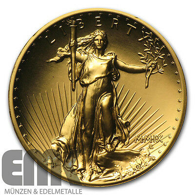 USA - 20 Dollar 2009 - Double Eagle - 1 Oz. Gold in Stempelglanz - High Relief