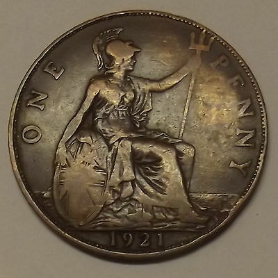 1921 GREAT BRITAIN ONE PENNY (1d) COIN