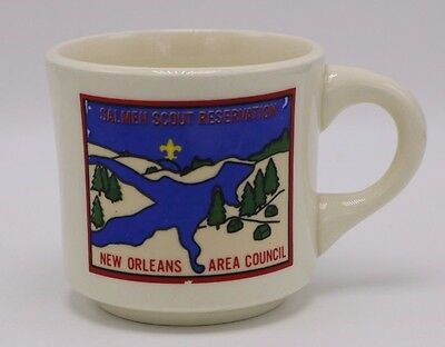 Boy Scouts VTG Coffee Mug Camp Salmen Reservation New Orleans Area Council BSA