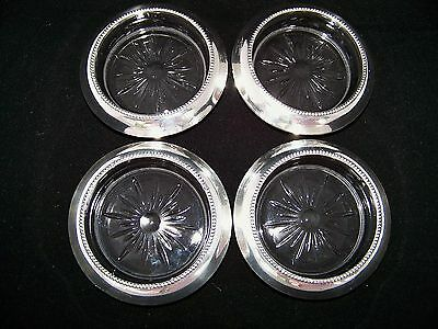Frank M Whiting Sterling 04 Coasters Set Of 4