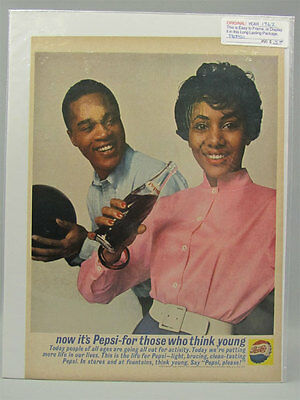1962 Photo Print Ad PEPSI-COLA Happy Couple Think Young