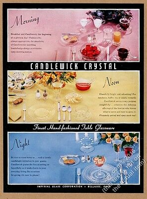 1956 Imperial Glass Candlewick Crystal color photo vintage print ad