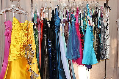 NWT LOT of 30 short and long formal evening gowns, PROM dresses, Variety