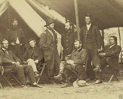 General Grant and Staff City Point Virginia 1864 New 8x10 US Civil War Photo