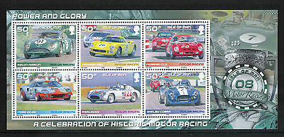 Isle of Man 2008 Historic Race Cars ss--Attractive Sports Topical (1274) MNH