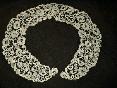 Hand Made Antique Victorian Tape Lace Collar Bobbin Needlework