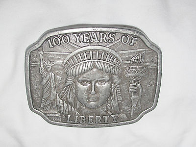 VINTAGE Limited Ed. 1984 --- 100 YEARS OF LIBERTY STATUE OF LIBERTY BELT BUCKLE