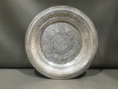 """Antique Sterling Silver Ornately Etched 7"""" Plate - 158.2 grams of Fine .925"""