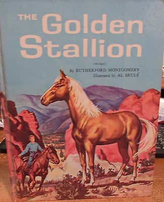 The Golden Stallion Childrens Horse Book by Rutherford Montgomery Abridged 1962