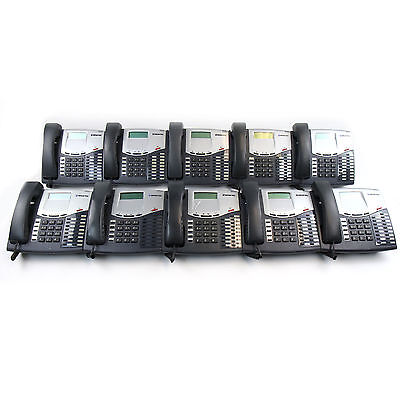 Mitel Inter-tel Axxess 8520 Charcoal Display Phone (550.8520) - Lot of 10