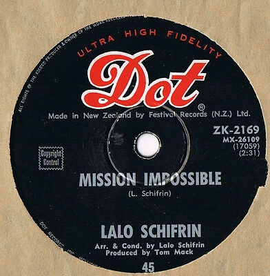 "LALO SCHIFRIN..........""MISSION IMPOSSIBLE""............1968.....New Zealand"