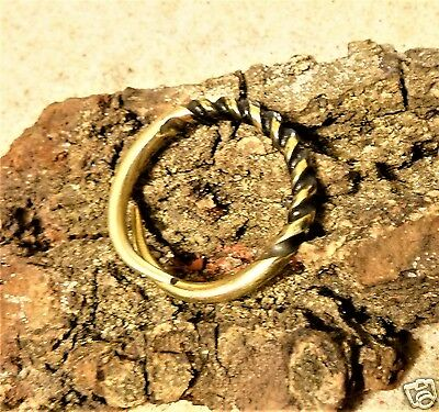 Ancient Viking  Bronze Twisted Ring (342) .