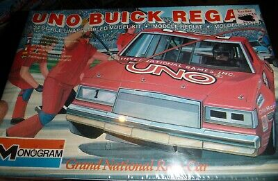 MONOGRAM UNO BUDDY BAKER BUICK REGAL 1 NASCAR Model Car Mountain FS 1/24 OLD