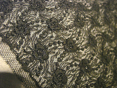 Vintage Antique BLACK LACE TRim LOT yardage Dress Victorian netting