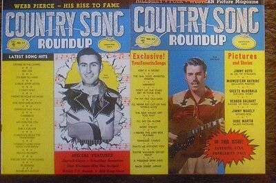Vintage Magazine Lot of 2   Country song roundup Dated 1953