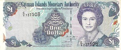 CAYMAN ISLANDS GOVERNMENT NOTE 1 DOLLAR PICK:#33c 2006 ABOUT EX.FINE