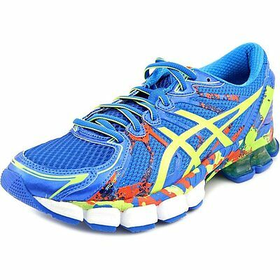 Asics GEL SENDAI 2 Mens Running Shoes Size 8.5 NEW BLUE LIME CHERRY TOMATO