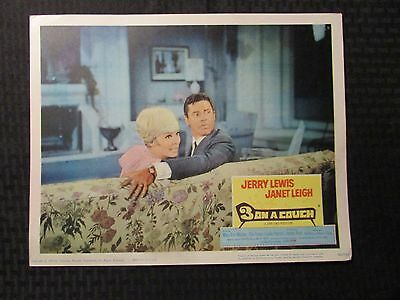 """1966 3 ON A COUCH Original 14x11"""" Lobby Card VG+ 4.5 Jerry lewis Janet Leigh LOT"""