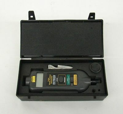 Extech 461995 Laser Photo/Contact Tachometer In Case