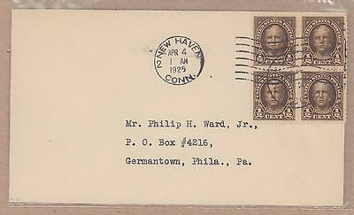 {BJ STAMPS} US  551  Nathan Hale 1/2c 1925 FDC. To Philip Ward New Haven CT