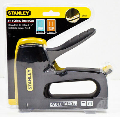 Stanley CT10X 2-in-1 Cable Tacker Staple Gun - NEW