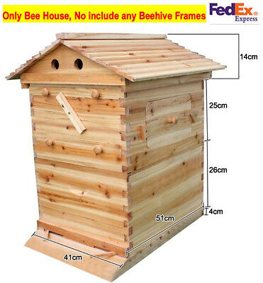 Cedarwood Super Brood Beekeeping Box For 7 PCS Auto Honey Bee Hive Frames