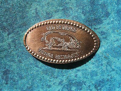 OLD BETHPAGE PIG VILLAGE RESTORATION Elongated Penny Pressed Smashed 2K