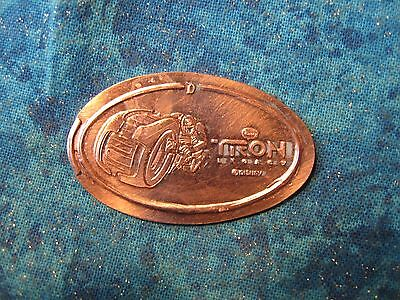 DISNEY TRON LEGACY LIGHT CYCLE DISNEYLAND Elongated Penny Pressed Smashed 3