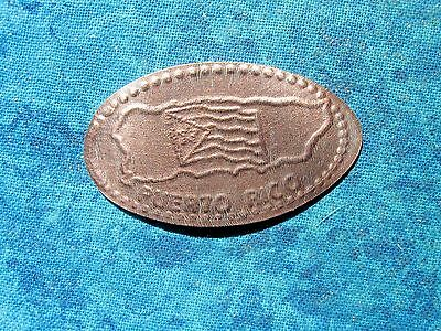 PUERTO RICO Elongated Penny Pressed Smashed 26D