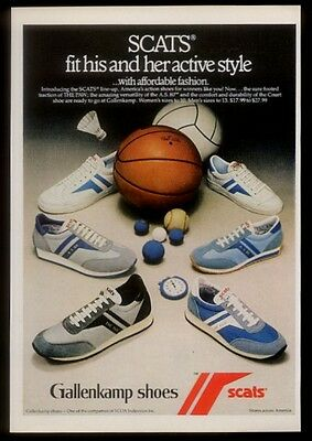 1981 Gallenkamp Scats shoes 6 styles photo vintage print ad