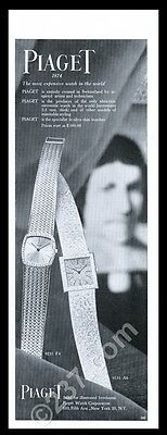 1962 Piaget 2 square watch photo vintage print ad