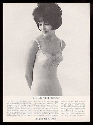 1961 Laros Compli-Fit slip pretty woman photo vintage lingerie print ad
