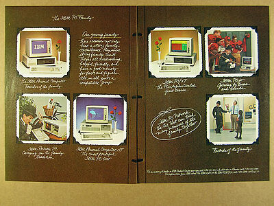 1984 'the IBM PC Family' Personal Computer Portable AT /XT & Jr vintage print Ad