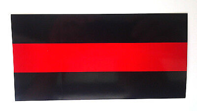THIN RED LINE FOR FIREFIGHTERS Hero Bumper Sticker GC