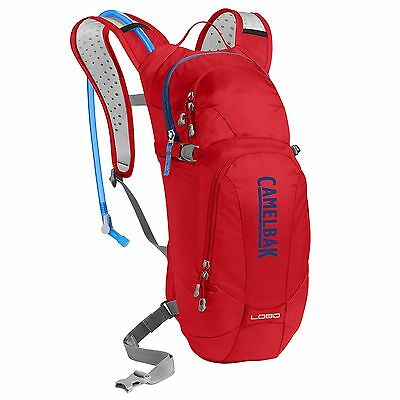 CamelBak Lobo Bike Cycling Water Drinks Hydration Pack - Racing Red/Pitch Blue
