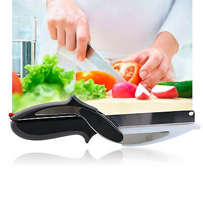 Kitchen Tool Vegetable Fruit Food Pro 2-In-1 Cutting Knife Scissors Dainty