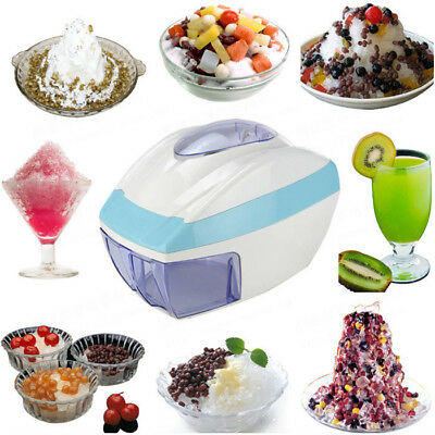 Commercial Home Electric Ice Crusher Ice Shaver Snow Cone Maker Shaved Machine