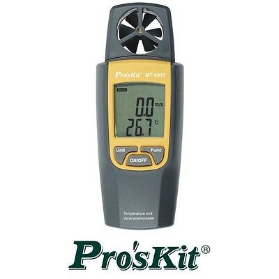 Thermometer And Vane Anemometer Wind Speed Airflow Tester Proskit MT-4015 Taiwan